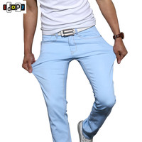 New Candy Colors Skinny Denim Pants For Men Elastic Stretch Five Pockets Classic Fashion Slim Fit Jeans Trousers