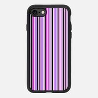 Candy Stripe Lilac iPhone 7 Case by Alice Gosling | Casetify