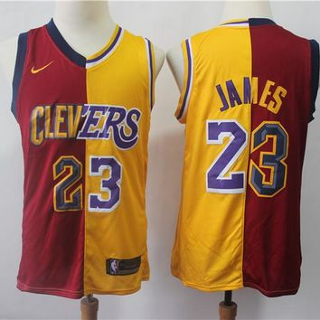 Cleveland Cavaliers & L.A. Lakers 23 LeBron James Swingman Jersey