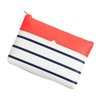 STRIPE LEATHER POUCH