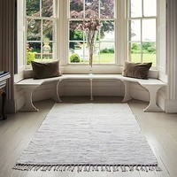 Ivory & Stone Handwoven Rug