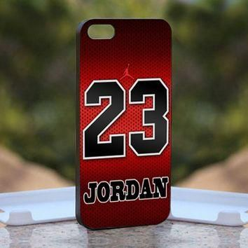 Jordan Nike NBA Chicago, Print on Hard Cover iPhone 5 Black Case