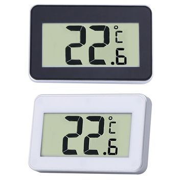 Mini LCD Digital Thermometer Temperature Meter Indoor Electronic Temperature Meter W Magnet Hook for Refrigerator