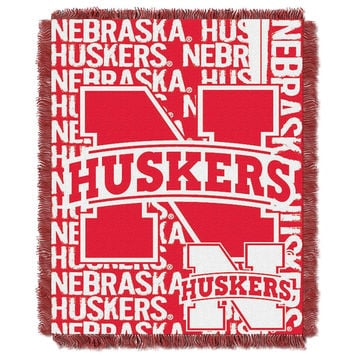 Nebraska Cornhuskers NCAA Triple Woven Jacquard Throw (Double Play Series) (48x60)