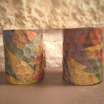 "Artimorean-Made Vintage ""Where the Wild Things Are"" (1963) Decoupaged Honeycomb Pottery Barn Votives Set - Art by Maurice Sendak!"
