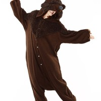 Adult Brown Bear Costume Pajamas