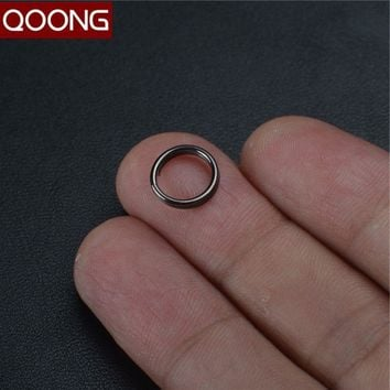 QOONG 10 PCS DIY Accessories Ultra Small Manganese Steel Key Chain Utility Stainless Steel Wire Circle Key Holder Metal Key Ring