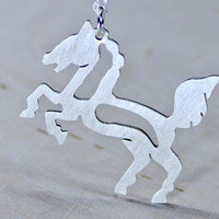 Sterling Silver Horse Necklace for the Cowgirl in you