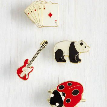 All Good Blings Enamel Pin Set | Mod Retro Vintage Pins | ModCloth.com