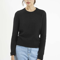 Seam Detail Crew Neck Sweater - Topshop