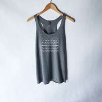 Wave Lines Beach Tank Top