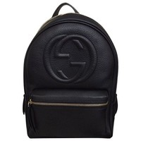 ONETOW Gucci Soho Black Backpack Calf Leather Backpack Ladies Bag Italy New