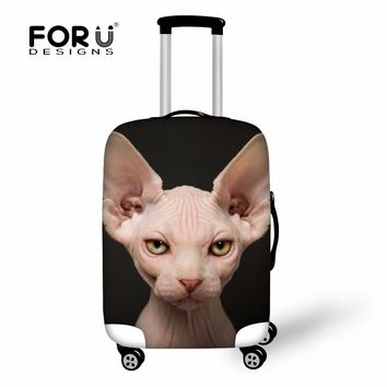 FORUDESIGNS Canadian Hairless Cat Case Cover Luggage for Trunk Travel Cool Cover Protective Suitcase Covers Travel Accessories