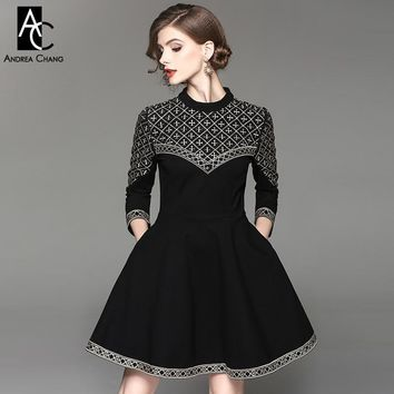 winter woman beige plaid pattern dress