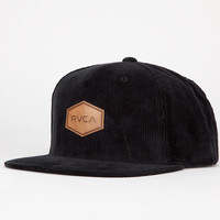 Rvca Hex Lux Mens Snapback Hat Black One Size For Men 22359310001