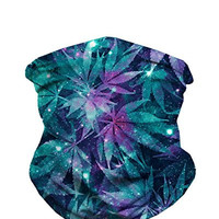 Weed Galaxy Seamless Rave Mask All Over Print Bandana