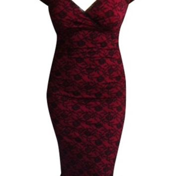Annabella Dress Red Lace