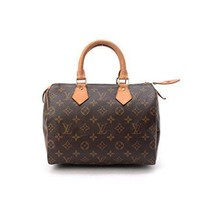 Tagre™ Women's Authentic Louis Vuitton Speedy 25 Brown Monogram Travel Bag