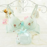 Quantity is Limited! Beautiful Lingerie Brand Womens Underwear Lingerie Cute Bra Set Matching Sexy Bra and Panty Sets for Women
