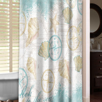 Look to the Sea Shower Curtain