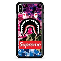 Supreme Bape Tripcamo iPhone X Case
