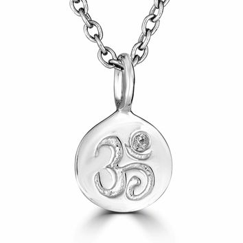 Om Necklace-Sterling Silver
