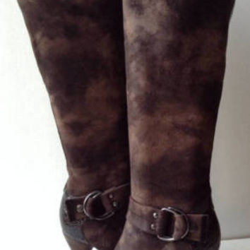 NEW Donald J. Pliner Roula Tall Taupe/Expresso Boots (Size 10 M) - MSRP $375.00!