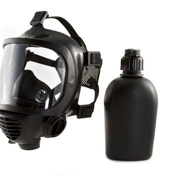 MIRA Safety CBRN Full Face Emergency Gas Mask Certified With EN 136– Durable Bromobutyl Rubber, Wide Visor, Ergo Speech Diaphragm – Protect Against CBRN Nuclear, Biological, Radiological Agents