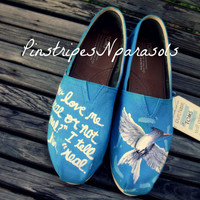 MOCKINGJAY Inspired Hand Painted Toms