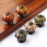 Ceramic Pumpkin Dresser/Drawer/Cabinet Knobs