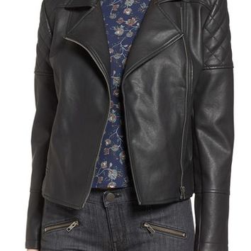 cupcakes and cashmere 'Breck' Faux Leather Moto Jacket | Nordstrom