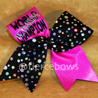 World Champion In Training Cheer Bow