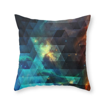 Society6 Galaxies I Throw Pillow