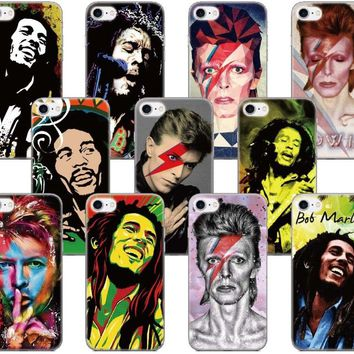 David Bowie Bob Marleys Shell Cover For iphone X 4 4S 5 5S SE 5C 6 6S 7 8 Plus For iPod Touch 5 6 Phone Case Coque Fundas Bumper