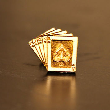 Royal Flush Poker Cards Cufflinks