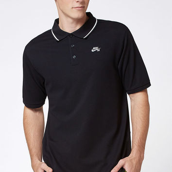 Nike SB Dri-FIT Pique Black Polo Shirt at PacSun.com