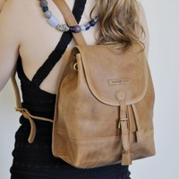 Exclusive Roots | Fair Trade Gifts,Leather Bags,Tan Leather Backpack