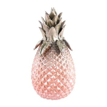 Metallic Small Pineapple Green & Pink | Overstock.com Shopping - The Best Deals on Accent Pieces