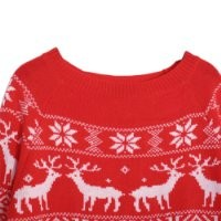 Womens Christmas Reindeer Snowflake Pullover Knitted Sweater Jumper