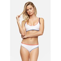 TAVIK Swimwear Marlowe Crop Top in White Color Block