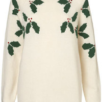 Tall Xmas Holly Jumper - New In This Week  - New In