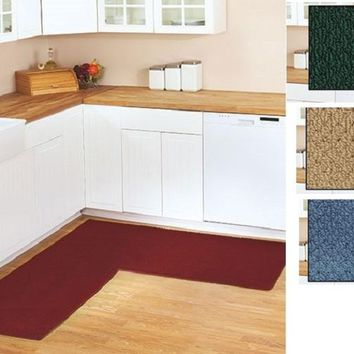 Corner Runner Rug Carpet Berber Kitchen Hallway Garage L-Shaped Rugs 68""