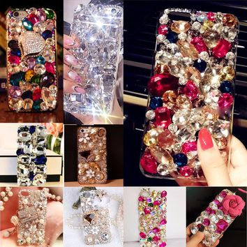 Glitter Rhinestone Case Cover For Samsung galaxy J5 2017(US Version), Acrylic mobile phone shell Cover Diamond Phone Cases