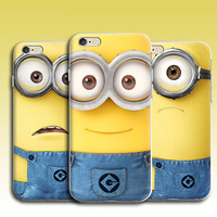 Ultra thin Clear soft silicon Despicable Me Minion Back Case for iphone 5 5S 6 6S Funny Minion cell phone back cover