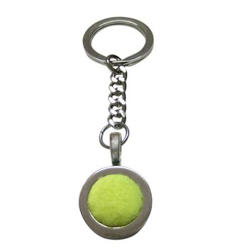 Authentic Tennis Ball Cut Out Pendant Keychain