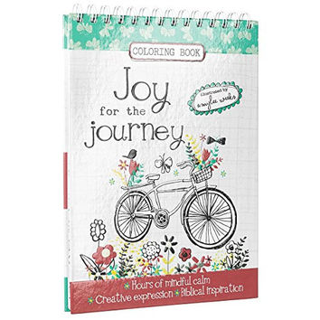 """""""Joy for the Journey"""" Hardcover Inspirational Adult Coloring Book"""