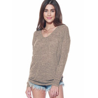 Knit Bat Long Sleeve Sweater