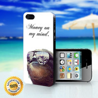 Money on My Mind Dolla Dolla Bill Sloth - For iPhone 4/4s, iPhone 5, iPhone 5s, iPhone 5c case. Please choose the option