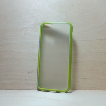 iPhone 5C Case Silicone Bumper and Translucent Frosted Hard Plastic Back - Grass Green