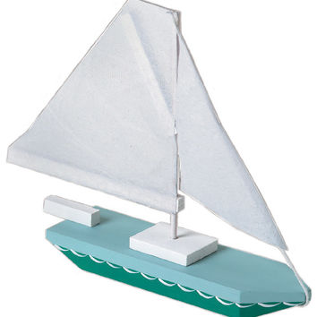 wood model kit - sailboat